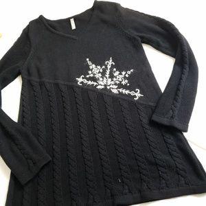 Hanna Andersson Women's Small Sweater Black Tunic